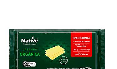 Massa para Lasanha Orgânica Native