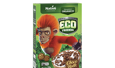 Cereal Orgânico Eco Friends Choco Balls Native