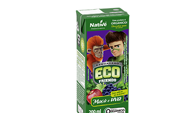 ECO FRIENDS APPLE AND GRAPE MIX JUICE