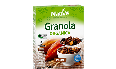 NATIVE COCOA FLAVORED ORGANIC GRANOLA